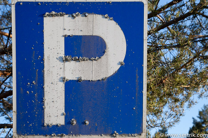 знак парковки в финляндии