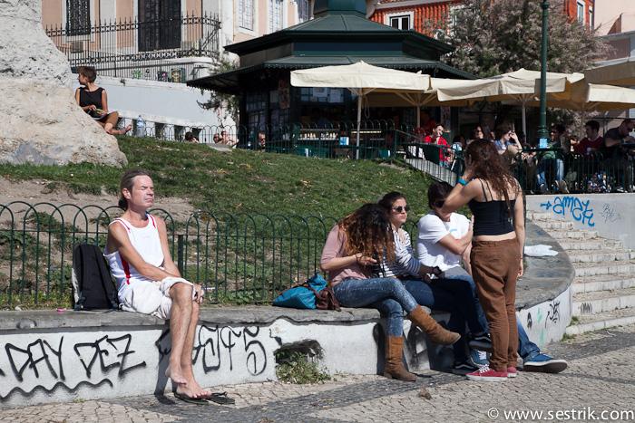 Смотровая площадка в Лиссабоне