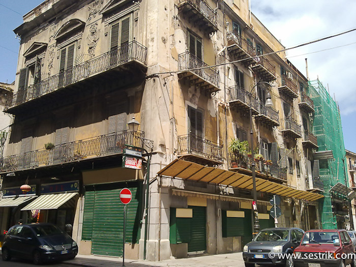 Здания в центре Палермо