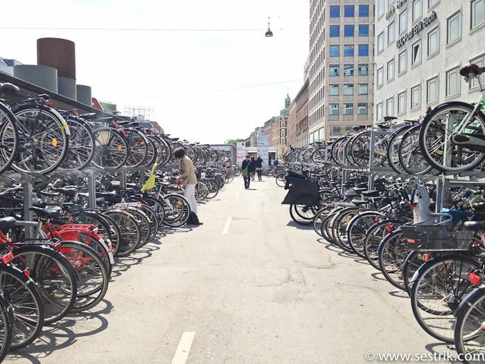 Велопарковка в Копенгагене