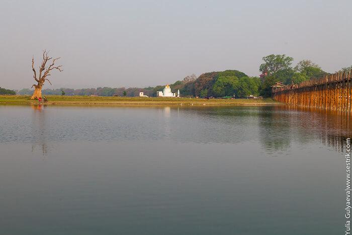 деревянный мост в мьянмар