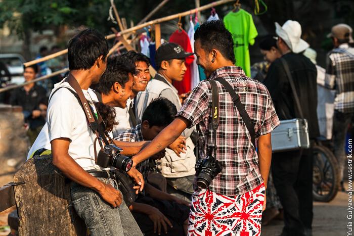жители в мьянмар