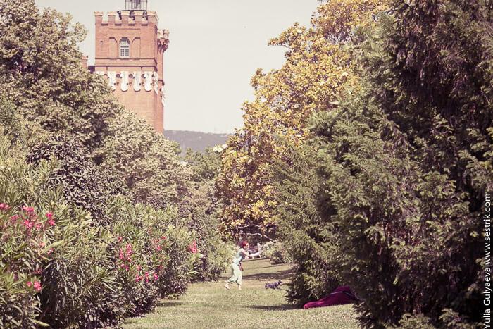 Замок трех драконов в парке Цитадель.