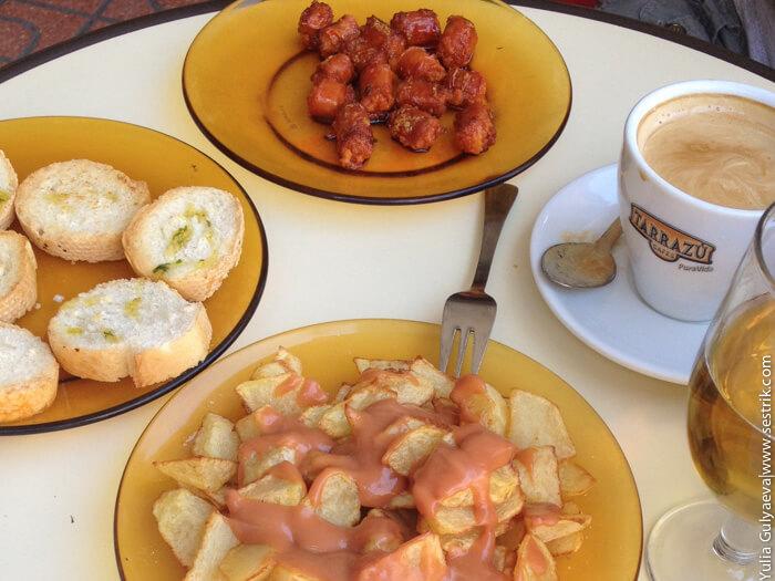 сколько стоит поесть в испании