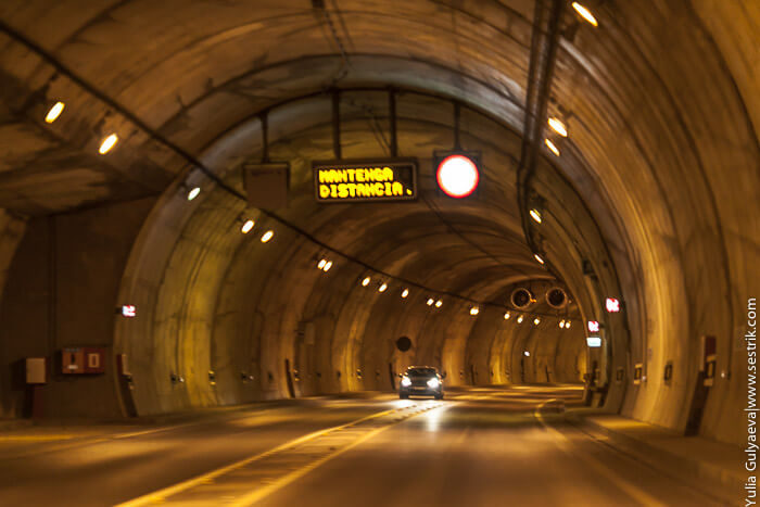 дорога в туннеле