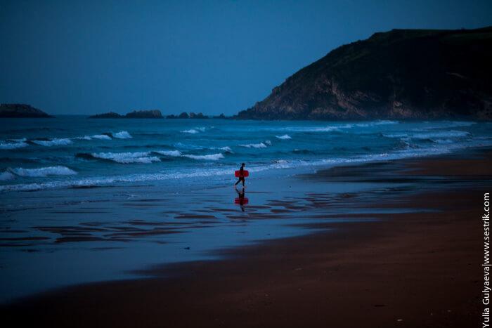 серфинг в стране басков