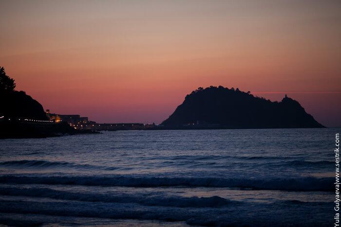 закат на бискайском берегу