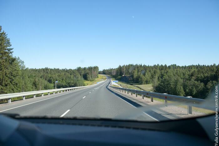 участок новой дороги в карелии