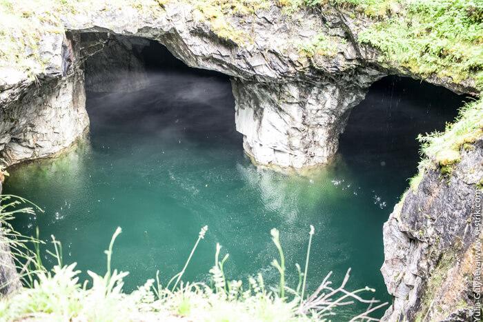 подземное озеро в карелии
