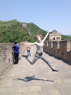 прыжки на китайской стене