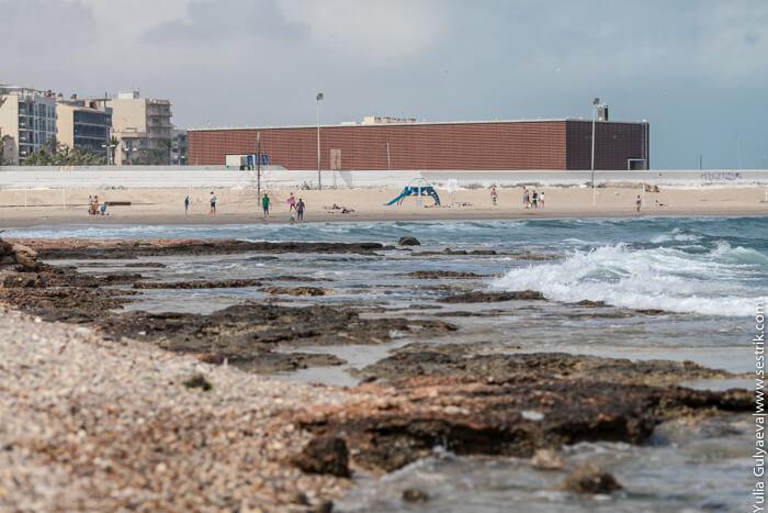 городской пляж в беникарло