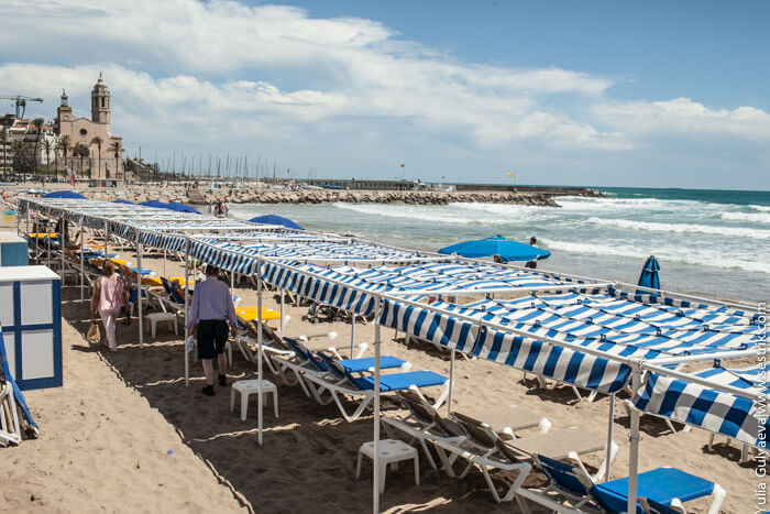 пляжи ситжеса