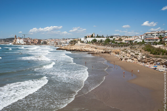 пляж себастиа в ситжесе