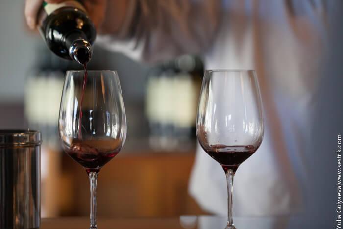 дегустация вина в долине напа