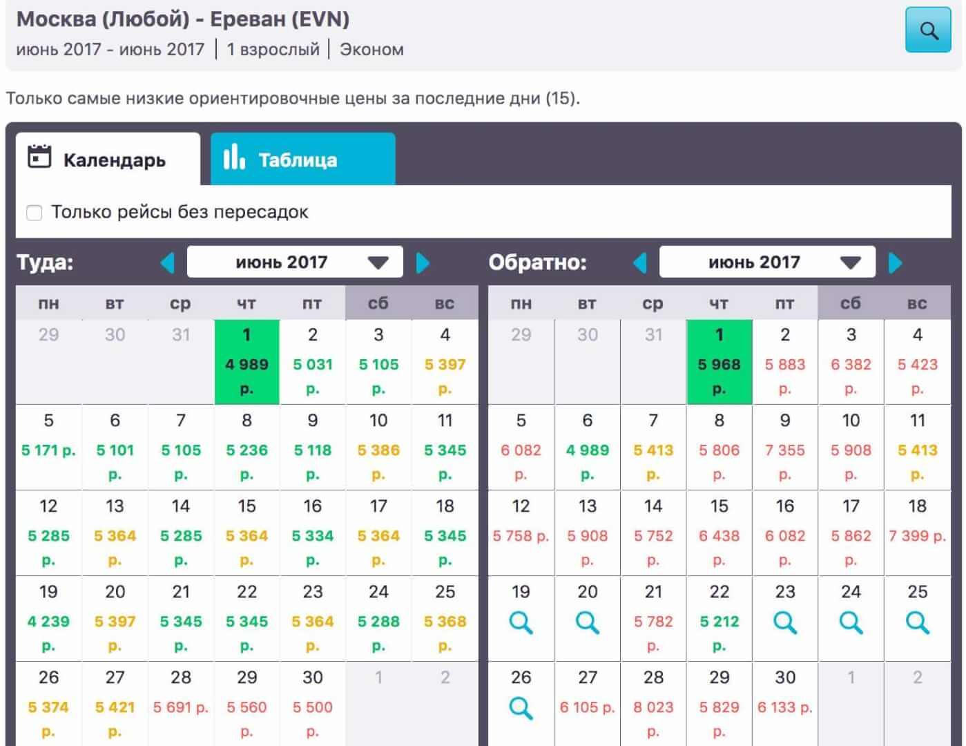 календарь низких цен на скайсканер