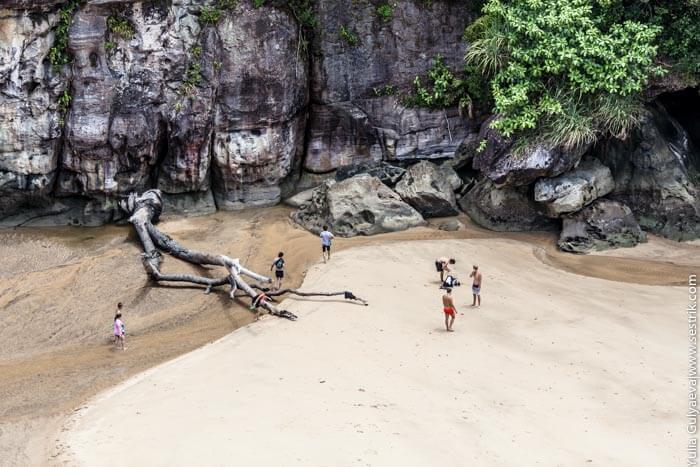 пляж в заповеднике бако