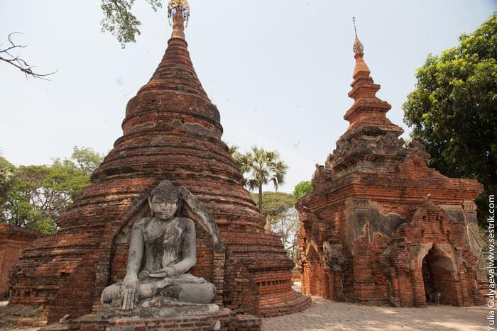 статуи будд и ступы