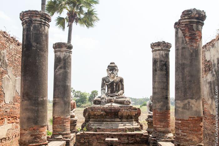 статуя будды в инве