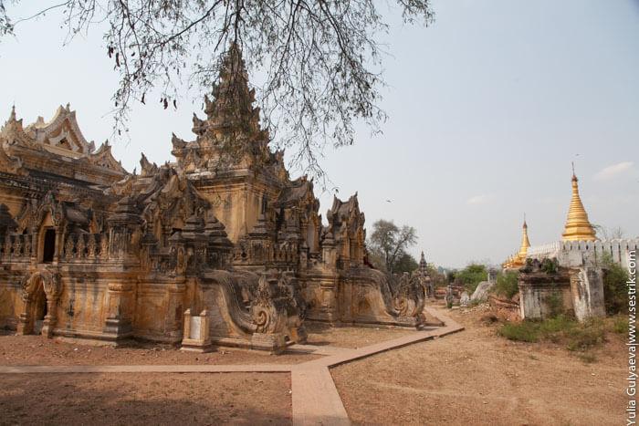 монастырь Маха Aungmye Bonzan в инве