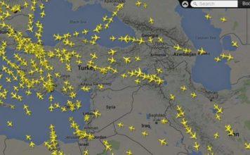 радар где находится самолет