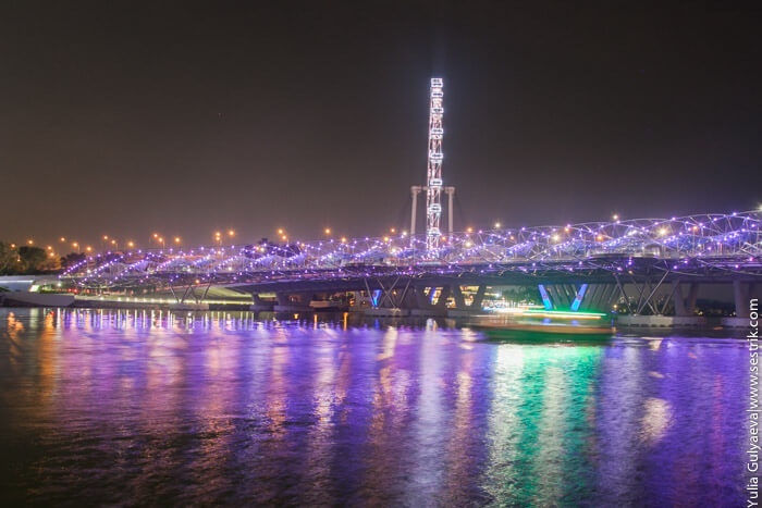 мост в виде днк