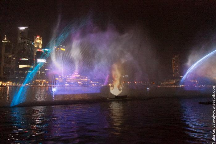 сингапур лазерное шоу