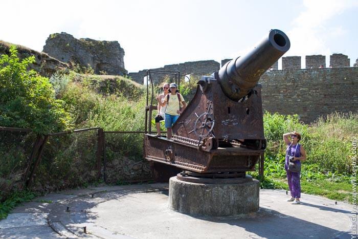 зенитная пушка в ивангородской крепости