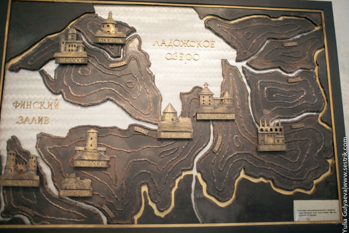 крепости северо-запада карта