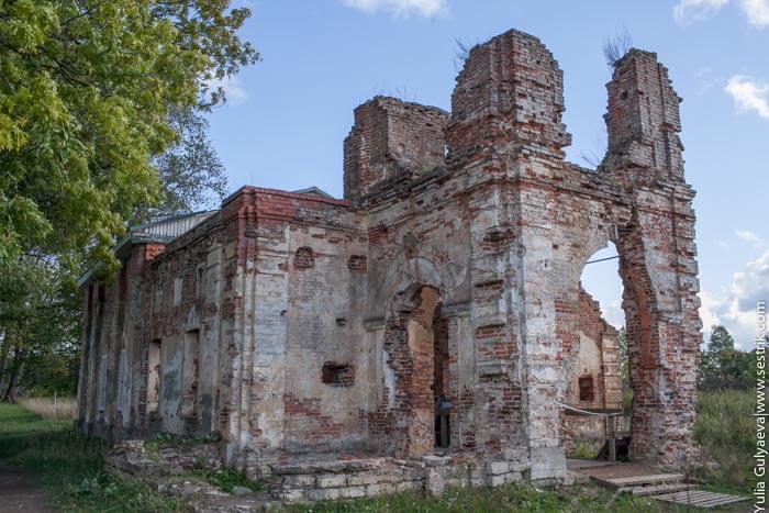 преображенская церковь в копорье.