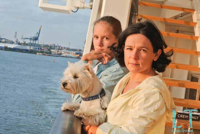путешествие с собакой на пароме