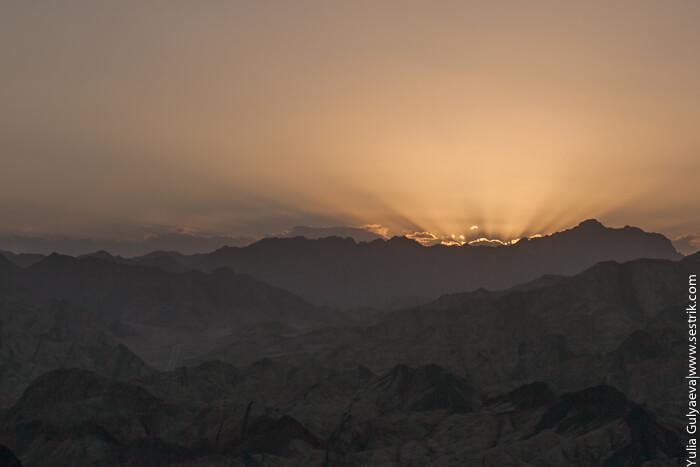 закат солнца в египте
