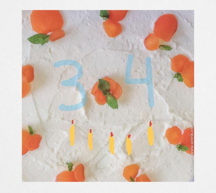 день рожденский торт
