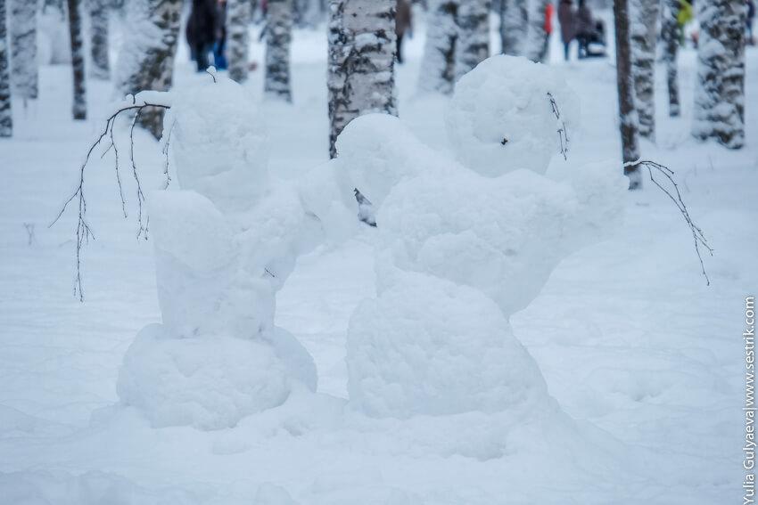 снежные снеговики