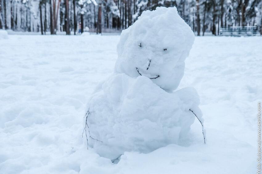 откуда взялся снеговик