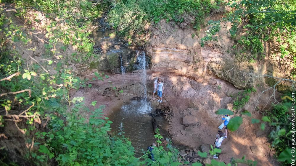 чаша водопада вид сверху