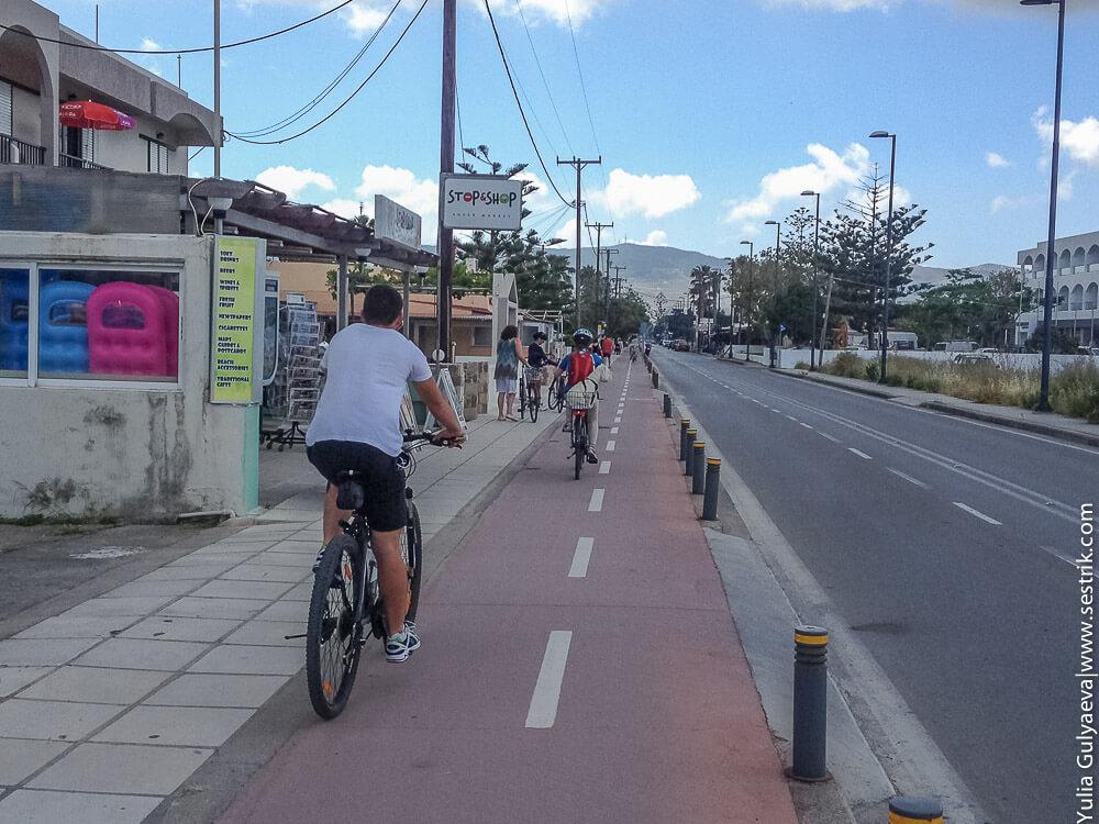 велодорожки на косе