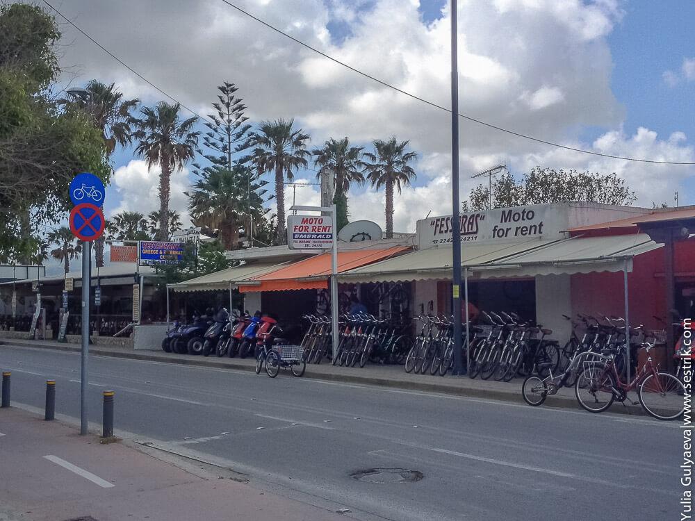 офисы по аренде велосипедов на косе