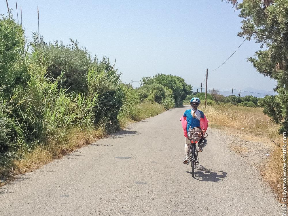 где на косе кататься на велосипеде