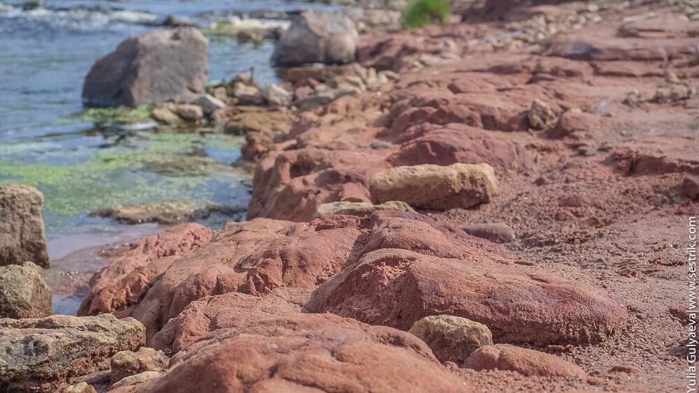 красный песчаник в тосно