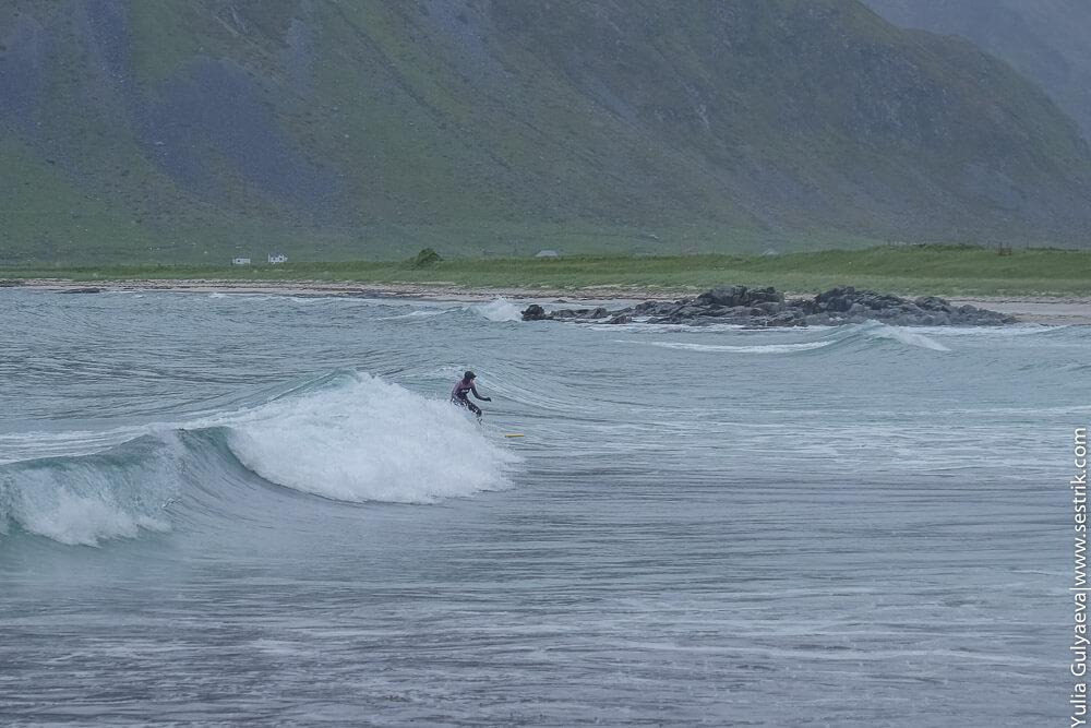 поехать кататься на волнах в норвегию