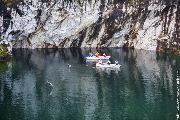 катание на лодке в мраморном каньоне