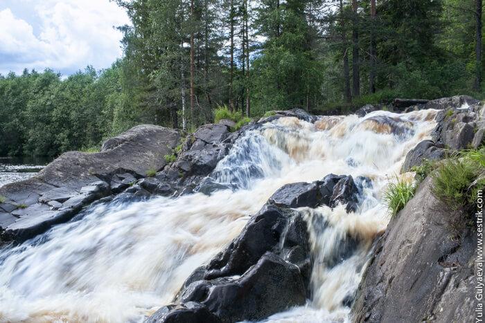 водопад зори