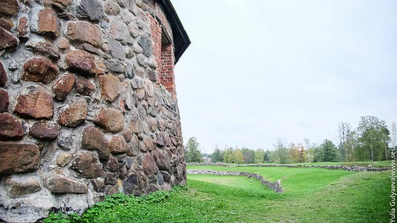 вид со стены крепости