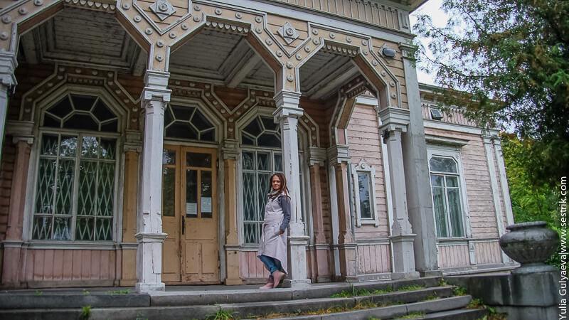 старый красивый дом в сортавале