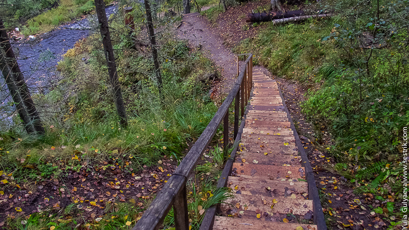 лестница к водопаду