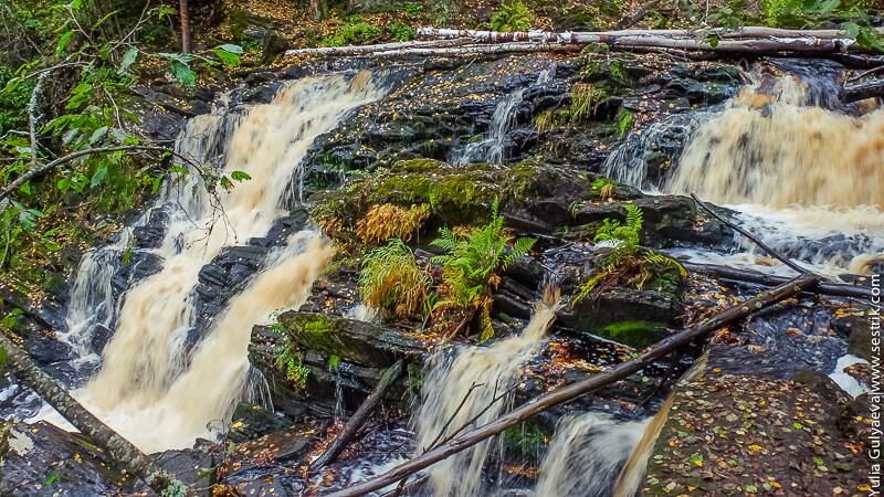 водопад в карелии