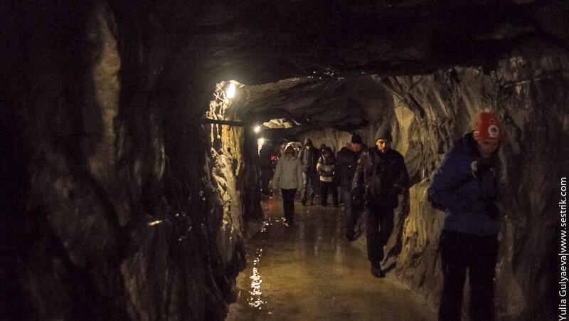вход в подземелье горного парка в рускеале