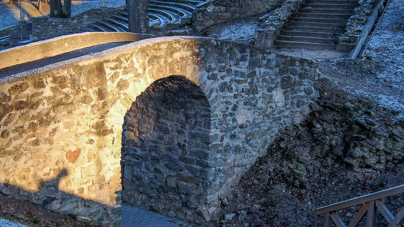 мост в парке цесис