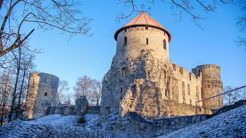 замок в Цесис башня