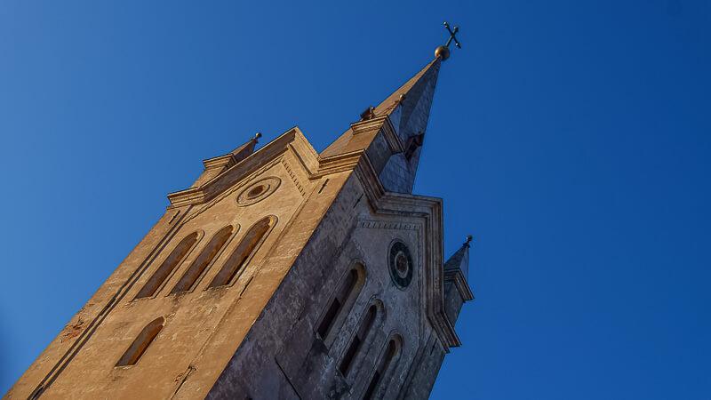 шпиль церкви святого иоанна в цесис